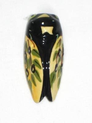 Magnet Mini Cigale Stri/é Violet taille 3.50cm