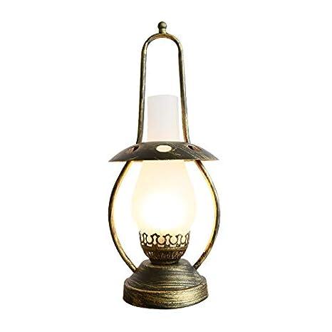 Campo retro industrial lámpara de mesa de hierro, E27 Nostálgico ...