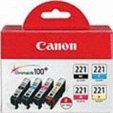 Colour Canon Pixma Ip4700 - Canon New OEM CLI-221 Color Multi Pack Ink Cartridge Part # 2946B004, Canon PIXMA iP3600/ PIXMA iP4700/ PIXUS MP610 Printers