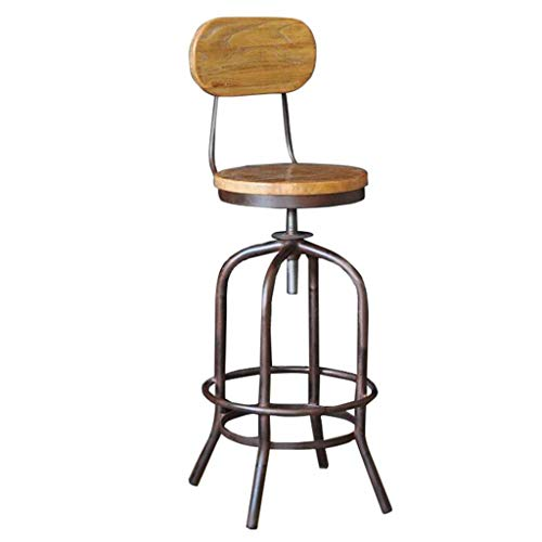 Western Iron Bar Stool - WXL Wrought Iron Solid Wood Starbucks Coffee Shop Tables and Chairs Bar Stools Western Restaurant Leisure Bar Restaurant Tables and Chairs W