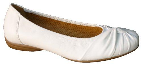 Gabor - Bailarinas de cuero para mujer blanco blanco blanco - weiss (natur)