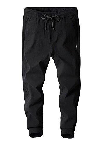 Wxian Men's Men's Stretchy Slim Fit Casual Zipper Pocket Trousers Pants by Wxian Men's