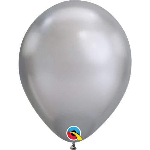 Qualatex Latex Balloon 058276 Chrome - Silver, 11