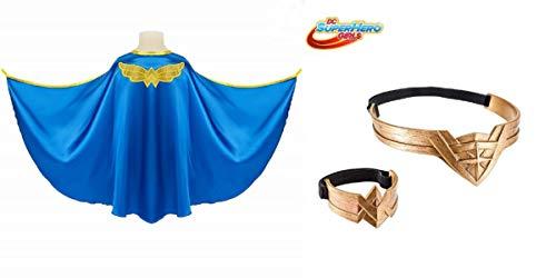 "Wonder Woman "" Cape Costume + Tiara + Arm Band Set -"