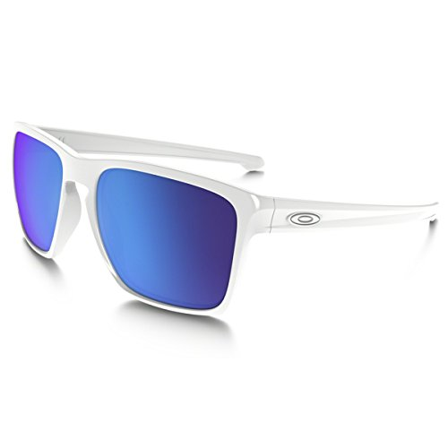 Oakley Unisex (A) Sliver XL White/Sapphire Iridium - Green Oakley Sunglasses And White