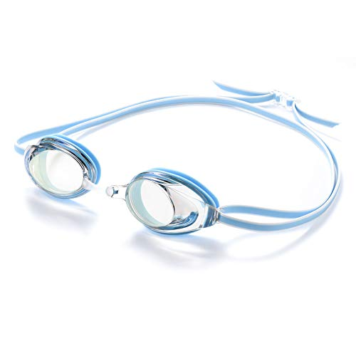 Dark Lightning Swim Goggles for Men/Women/Youth/Mirrored Swim Goggles, No Leaking/Anti Fog, Competitive Good Swimming Goggles