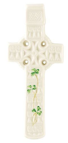 Belleek Celtic Cross (Belleek 2801 Celtic Shamrock Wall Cross)