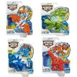 Playskool Transformers Rescue Bots Boulder, Blades, Chase and Heatwave the Rescue Dinobot Figures-4 Pack Set ()