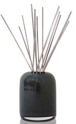 Hand Blown Art Glass Reed - Alassis Collection No. 8 Reed Diffuser Set, Blackcurrant/Rosewood