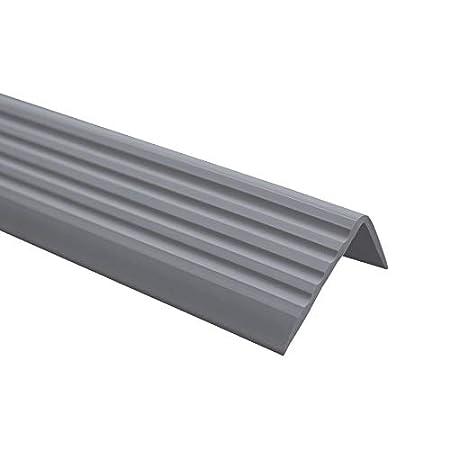 1.1 Meter 40x25mm cremefarben Anti-Rutsch Treppenkantenprofil f/ür Treppenstufen Winkelprofil PVC Gummi ND