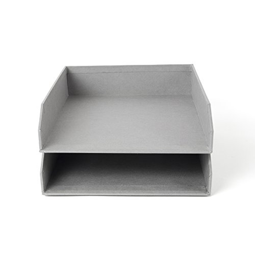 Grey Letters - Bigso Hakan Stackable Letter Trays, Grey
