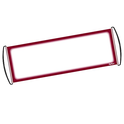 "Dark Red - ZipSign Dry Erase Banner Rolls Itself Up, Unrolls to 9.5"" x 27"", Reusable, Handheld, Portable, Fits In Your Pocket – Great for Sports, Concerts, Cheer, Team Spirit - 1-Year (Portable Reusable Roll)"