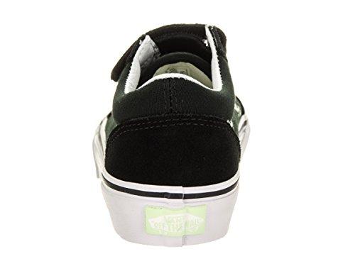 Vans Kids Old Skool V (Glow Bones) Black/True White Skate Shoe 11 Kids US - Image 3