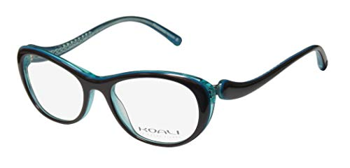 Koali 7058k Womens/Ladies Rxable Durable Designer Full-rim Eyeglasses/Eyeglass Frame (49-16-135, Brown / Aquamarine) (Aqua-brillen Frames)