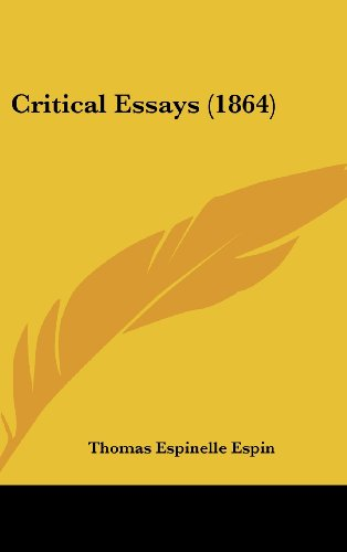 Critical Essays (1864)