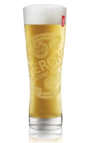 Peroni Italian Beer Glasses 0.4L - Set of 4 by Peroni (Image #1)
