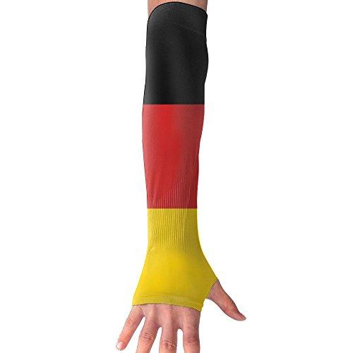 FTHX German Flag Womens Super Long Fingerless Anti-uv Sun Protection Golf Driving Sports Arm Sun Sleeves Gloves For Cycling Cooling - Triathlon Deutschland