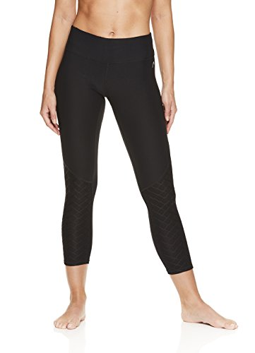 HEAD Women's Title Capri Crop Leggings - Performance Activewear Yoga & Running Pants - Black, Large