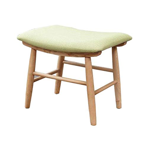 (LIAN-footstools Nordic Modern Oak Frame Footrest, Anti-Slip Dressing Table Stool Sofa Stool Makeup Seat 18.514.216.9in)