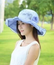 bluee Outdoor Anti Ultrapurple Sun Shading Cap for Women's Summer Fashion