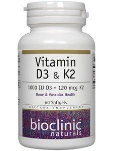 Bioclinic Naturals Vitamin D3 & K2 60 Gels For Sale