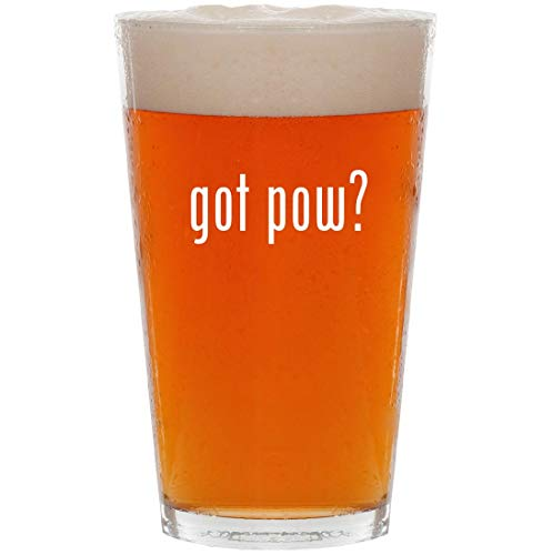 (got pow? - 16oz All Purpose Pint Beer Glass)