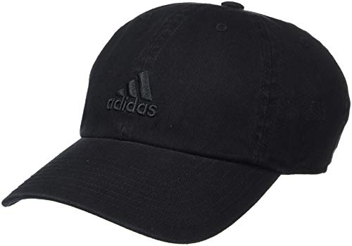 (adidas Women's Saturday Relaxed Adjustable Cap, Black/Black, One Size)