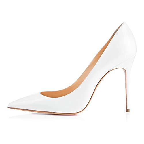 Scarpe Donna Eleganti con Tacco Estate Bianco 10CM EDEFS Donna Scarpe da XnZd81Oq