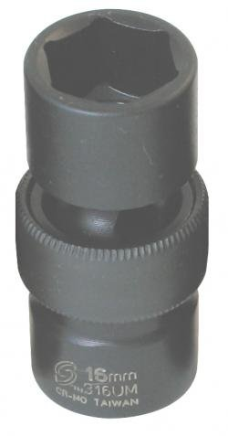 "Sunex International 313UM 3/8"" Drive Universal Impact Socket - 13mm"
