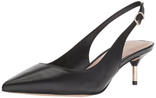 ALDO Women's NELAMA Pump, Black Leather, 7 B US ()