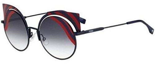 New Fendi HYPNOSHINE FF 0215/S 0M1/9L blue red/smoke shaded Sunglasses