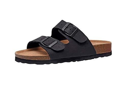 CUSHIONAIRE Women's, Lane Slide Sandals Black 9 M