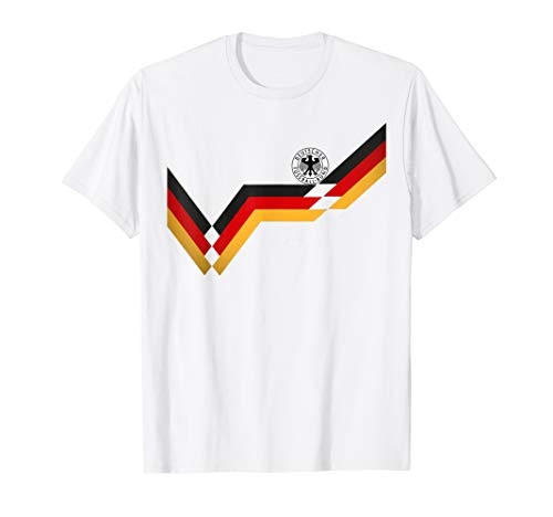 Germany Soccer Jersey Vintage German 1990 Retro Football Top ()