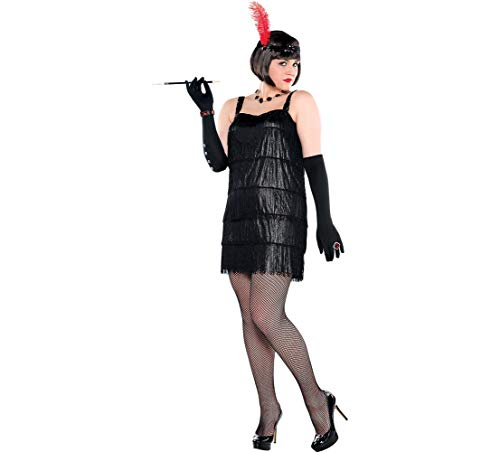 AMSCAN Flashy Flapper Halloween Costume for Women, Plus Size, with Included Accessories -