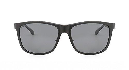 cuadradas Hombre UV400 Sol Black lan Soleil de Homme Aluminio Gray polarizado de Hombres de New Gafas Lunette Shuo Marca la Color de Sol Gafas de Gafas diseñador XxfnFxO