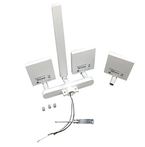 Adoner ARGtek DJI Phantom 3 Standard WiFi Signal Range Extender Antenna Kit 10dBi - Kit 3 Omni
