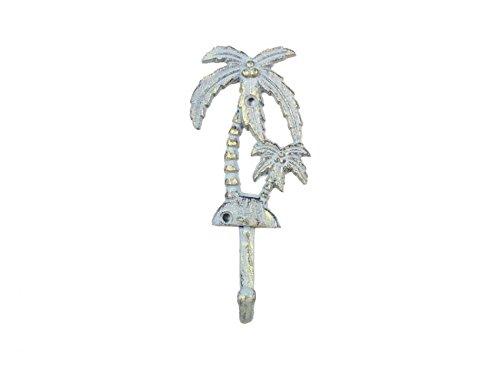 Antique Seaworn Bronze Cast Iron Palm Tree Hook 7