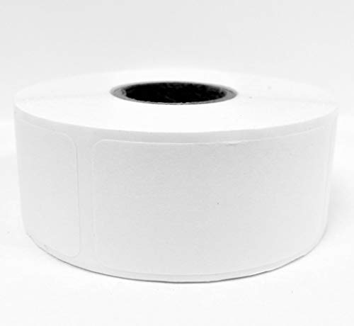 Dissolvable Food Storage Labels – Blank White 1x2 inch size - 500 Labels Per Roll -Dissolves in Water In 30 Seconds - No Adhesive Residue - Perfect Labels for Glass, Metal, Plastic Containers and more