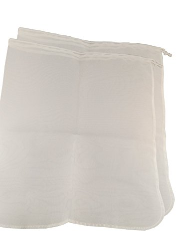 Spot On Products Reusable Fine Mesh Filter Bags. Pack of 2 Breathable Washable Hygienic Nylon with Draw Strings. Best for Straining Food Nut Milk , Brewing needs. Complete with Label Stickers 12