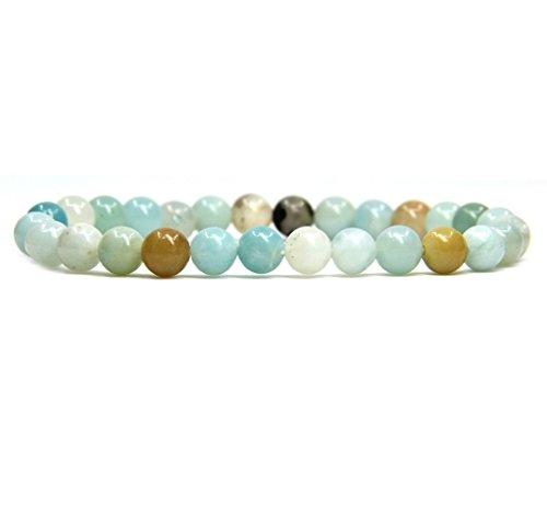 Multi Color Stretch Bracelet - Natural Multicolor Amazonite Gemstone 6mm Round Beads Stretch Bracelet 7