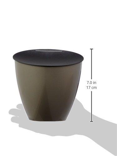 Plastik Mepal Abfallbeh/älter Calypso Titanium 17.5 x 18.4 cm