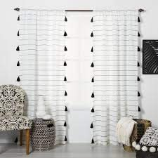 Opalhouse Contrast Stripe Light Filtering Curtain Panel