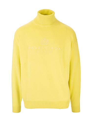 Balenciaga Luxury Fashion Man 594740T40987050 Yellow Cashmere Sweater | Fall Winter 19