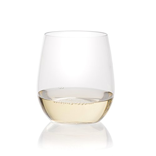 Berevino Plastic Wine Glasses/Stemless Wine Cup 12 ounce | Set of 48 Clear Plastic Unbreakable Wine Glasses Disposable Reusable Shatterproof by Prestee (Image #1)