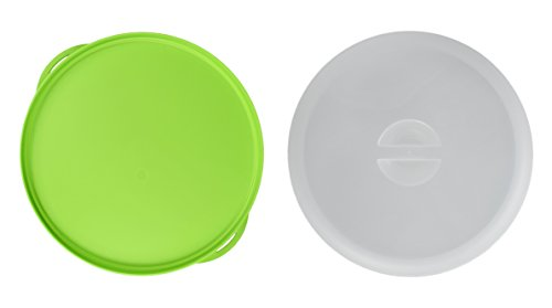 """Click Home Design Large 11"""" Green Cake Keeper BPA Free Bright Colors (1, Green)"""