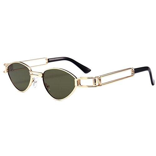 de sol C7 Steampunk WEIMEITE retro Gafas de UV400 sol de caja metálica de Gafas mujer qRx7av