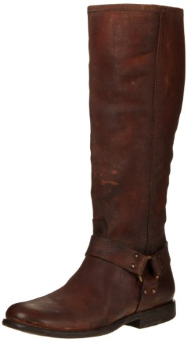 FRYE Women's Phillip Harness Tall Boot, Cognac Stone Antique, 8 M US - Frye Phillip Tall Riding Boot