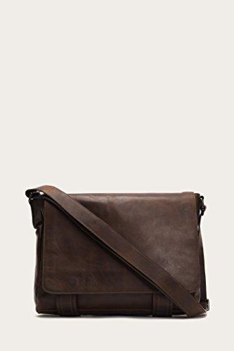 FRYE Men's Logan Messenger Bag, Dark Brown, One Size ()
