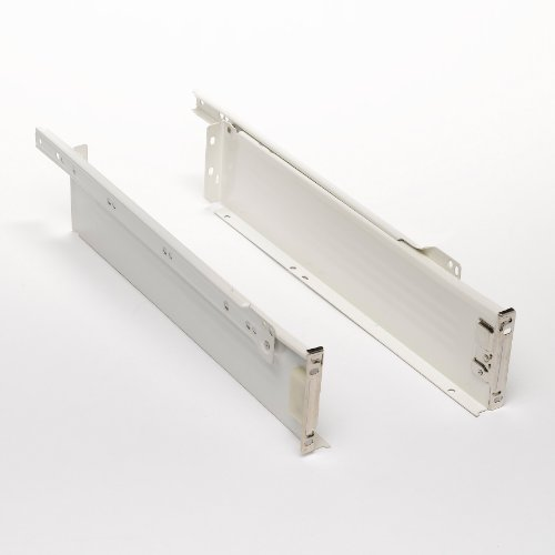 Bulk Hardware BH00320 Drawer Box Side Panels (Left and Right), 450 x 86 mm (18 x 3.4) inch - Cream