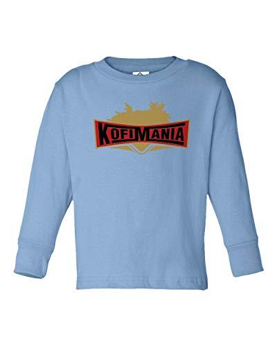 Kofi Kingston Wrestlemania KofiMania Little Kids Long Sleeve Toddler T-Shirt (Carolina Blue, -